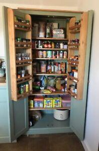 50cm Deep Handmade Kitchen Pantry Larder Storage Cupboard Spice Rack Ebay
