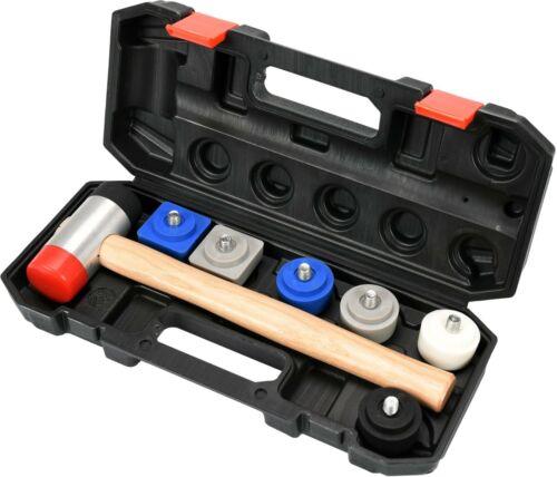 Schonhammer Set 9-tlg Ausbeulwerkzeug Ausbeul Hammer Blechhammer Schlagköpfen