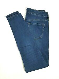 OLD-NAVY-Womens-ROCKSTAR-Mid-Rise-Skinny-Jeans-Medium-Wash-STRETCH-Size-4-REG