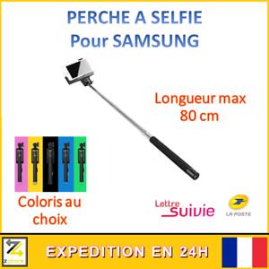 PERCHE SELFIE TELEPHONE PHOTO SAMSUNG S5 S6 S7 S8 S9 S10e Plus Idée Cadeau neuf
