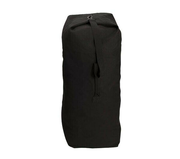 Rothco Heavyweight Top Load Canvas Duffle Bag Black 21 X 36 for sale online   7226dc532eb18