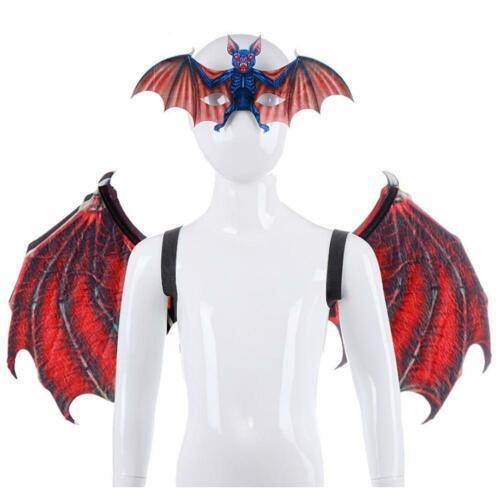 Kids Bat Wings Shawl Fairy Wings Halloween Cosplay Party Fancy Dress Costume