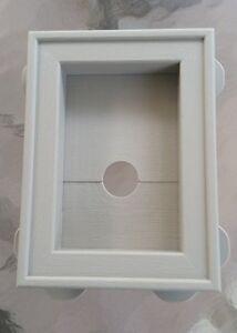 Clay Vinyl Siding Split Block Recessed Mini Mount