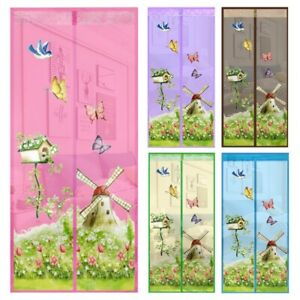 Magnetic-Mesh-Door-Magic-Protection-Curtain-Snap-Insect-Fly-Bug-Mosquito-Screen