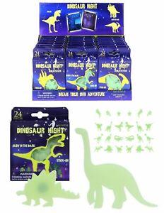 24-x-Glow-In-The-Dark-Dinosaurs-Kids-Bedroom-Ceiling-Wall-Stickers-Fun-Decor