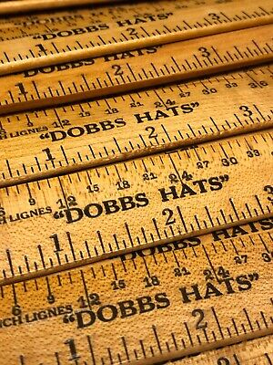 "Vintage NOS 6"" Advertising Ruler KNOX HATS New York w// Hat Measurements MINT 1"