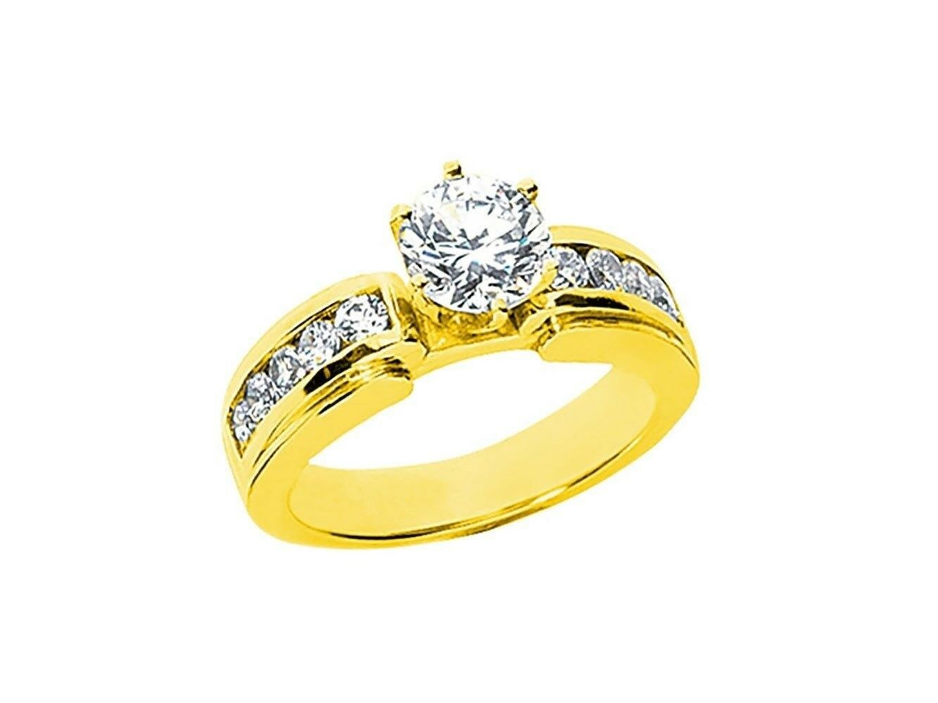 Natural 1.00Ct Round Cut Diamond Bridal Engagement Ring Solid 14k gold IJ I1