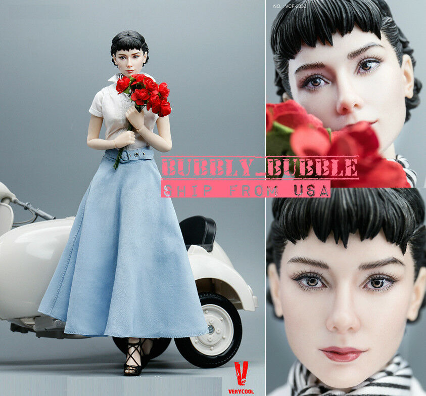 1/6 Audrey Hepburn Roman Holiday Female Figure Premium Full Set SHIP FROM USA