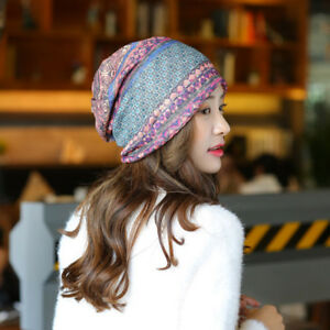 796f730960c5bf Multi-use Chic Women's Boho Retro Hat Beanie Scarf Collar Turban ...