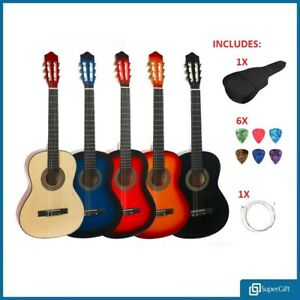 39-034-Beginner-Adult-Student-Full-Size-Acoustic-Guitar-Flok-Pack-Starter-Natural