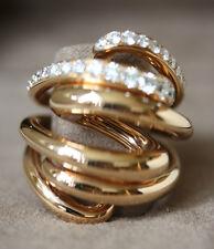 DE GRISOGONO ROSE GOLD WHITE DIAMOND VORTICE RING