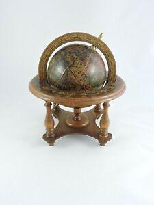 Mercurio-D-039-oro-wooden-Desk-Globe-vintage-tabletop-decor-Italy-11-inch-wood-world