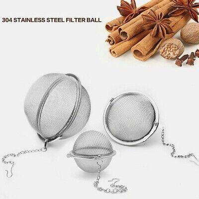 "2/"" Tea Infuser Ball Mesh Loose Leaf Herb Strainer Stainless Steel Secure Locking"