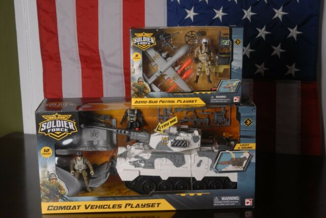 BCP Military Fighter Tank Truck Toy Play Set w// Army Soldier Lights Sounds