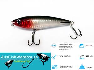 STICK-BAIT-SINKING-HARD-BODY-FISHING-LURE-GREAT-FOR-BIG-FISH-110mm-24g-Bait