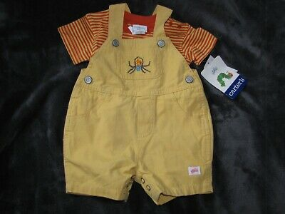 Vintage Carters Eric Carle Spider Yellow Shortall Overall