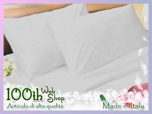 Lenzuola Matrimoniali Di Alta Qualita.Completo Lenzuola Matrimoniale 100 Cotone Bianco Alta Qualita