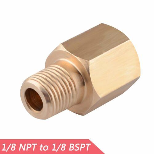 Fuel//Oil Pressure Gauge Sensor Adapter Reducer 1//8 NPT Female to 1//8 BSPT Male