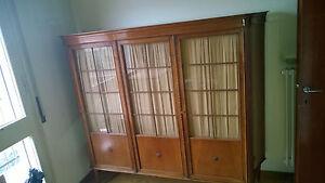 Libreria Vetrina Ufficio : Elegante vetrina libreria studio ufficio in noce 170 x 160 cm ante