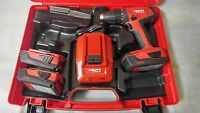 Hilti Cordless 18v, 1/2 Drill Driver Sfc 18-a Li-ion Kit With 1.6ah Batteries