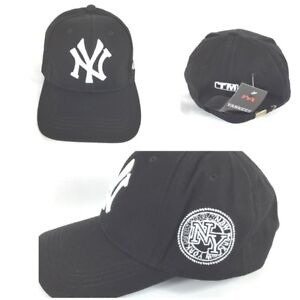 Details about New York Yankees Ball Cap Baseball Cap Unisex Black White NEW  Adjustable 27eb672ac04