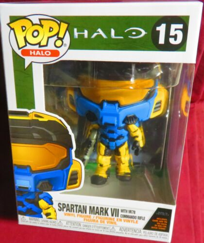 """#15 NEW POP /""""HALO/"""" GAME ADD-ON SPARTAN MARK VII WITH VK78 COMMANDO RIFLE"""