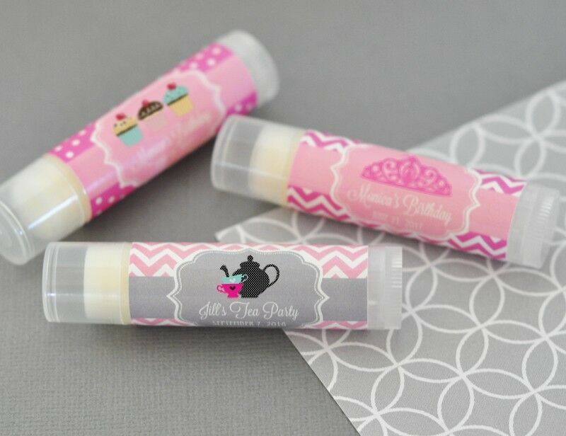 144 Personalized Kid's Birthday FlavGoldt Lip Balm Tubes Birthday Party Favors