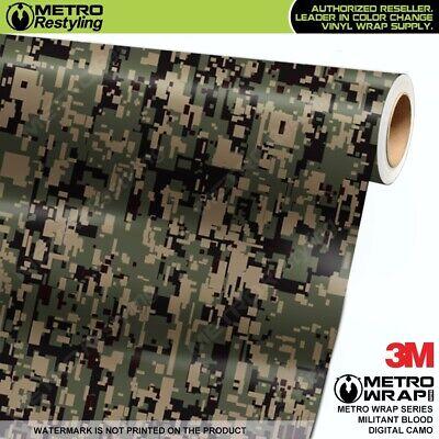 LARGE DIGITAL MILITANT GREEN Camouflage Vinyl Vehicle Car Wrap Camo Film Sheet