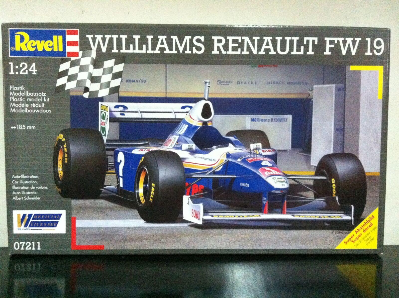 Revell Kit di Montaggio 1:24 7211 F1 WILLIAMS RENAULT FW19 FW 19 MIB, 1997