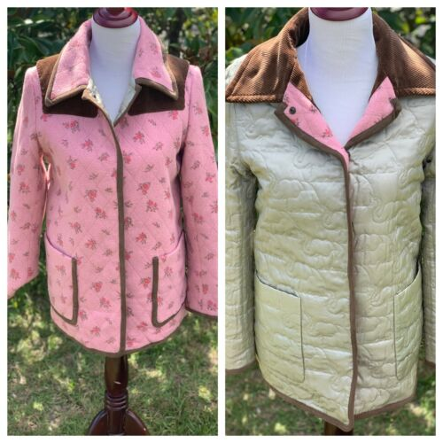 KEITA MARUYAMA Wool Reversible Coat Quilted Elepha