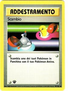 POKEMON SCAMBIO 95/102 COMUNE SET BASE PRIMA EDIZIONE LIGHT PLAYED
