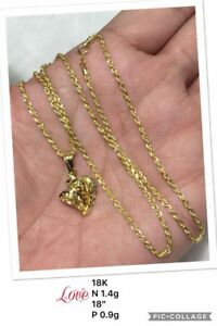 Gold-Authentic-18k-gold-necklace-and-pendant