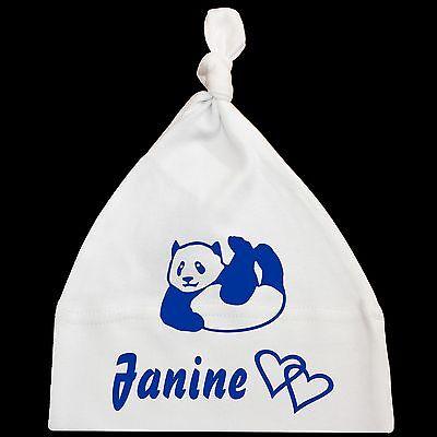Babymützen Baby Mützen Mütze mit Grafik und Wunschname Baby One Knot Hat