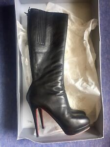 Classic-Christian-Louboutin-Black-Boots-39-5-6-5