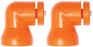 (2) Shield Mounting Elbows Loc-Line® USA Original Modular Hose System #60531