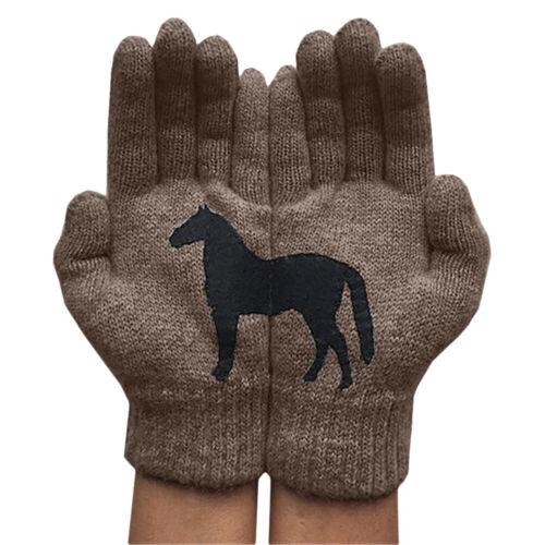 Damen Handschuhe Stricken Thermo Handschuhe Warme Gestrickt Winterhandschuhe Neu