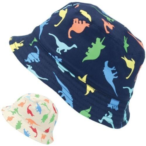 Fischerhut Sonne Kinder Jungen Mädchen Baby Dinosaurier Dino Kinder Kappe Sommer