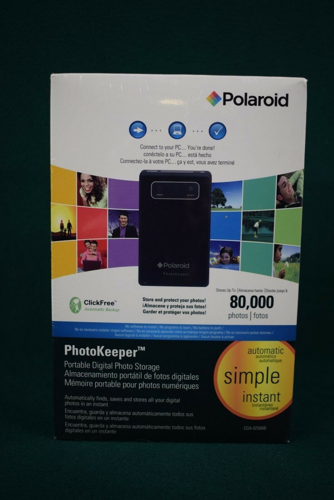 Polaroid Photokeeper 80gb Portable Digital Photo Storage Cga 02580b Seagate Stdr2000 2tb Hard Disk Cartridge Norton Secured Powered By Verisign