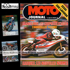MOTO JOURNAL N°322 GP ASSEN ROLF BILAND TOM HERRON MICK GRANT LAVERDA 500 1977