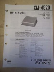 image is loading sony-service-manual-xm-4520-amplifier-amp-original-