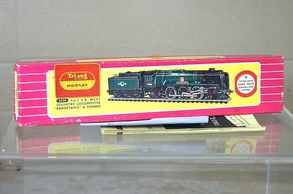 TRIANG HORNBY DUBLO 2235 BOX ONLY BR 4-6-2 WEST COUNTRY LOCO BARNSTAPLE NICE my