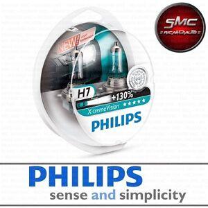 Blister-2-Lampade-Lampadine-Philips-H7-X-TREME-Vision-130-LUCE-Bianca-Ghiaccio