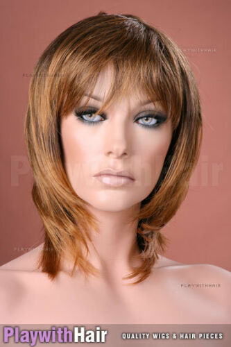 Sassy Tapered NEW Wig Brown Blonde Tip