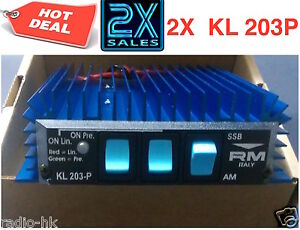 Bundle an Save! 2x KL 203 Mobile Linear Amplifier by R.M.-