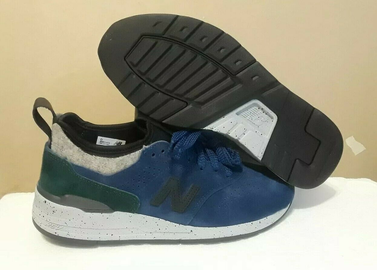 NEW BALANCE MEN'S M997HC2 NAVY GREEN SUEDE MADE IN USA SIZE  6