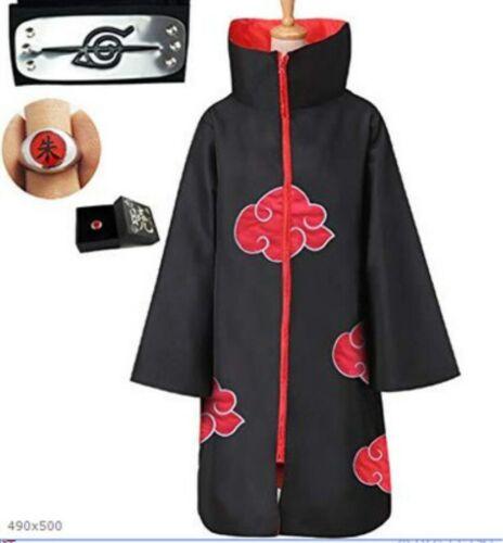 2020 New Akatsuki Uchiha Itachi Cloak Anime Cosplay Unisex Costume ninja NARUTO