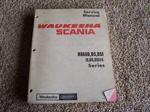 Image Is Loading Waukesha Dresser H866d Ds Dsi Dsi14 Scania Operation