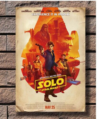 Solo A Star Wars Story 2018 Movie Han Chewie Charactert Poster Fabric 36 E-1807