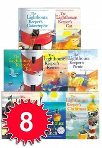 The-Lighthouse-Keeper-039-s-Lunch-Collection-8-Books-Set-Cat-Picnic-Rescue-Tea