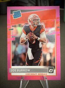 2020 Donruss Optic #151 Joe Burrow PINK Prizm Rated Rookie SP Bengals Card